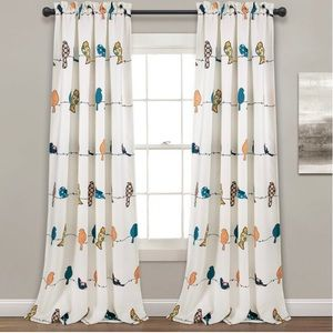 Blackout curtains for Baby/Kids Room, Bird print